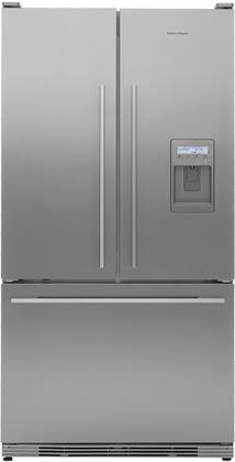 Fisher Paykel RF195ADUX1 ActiveSmart Series Counter Depth French Door Refrigerator with 19.5 cu. ft. Capacity in Stainless Steel