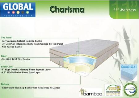 Global Furniture USA B1155TMF Charisma Series Twin Size Mattress