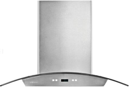"Cavaliere 218 SV218D Wall Mount Range Hood With 900 CFM, Dishwasher Safe, 30 Hour Cleaning Reminder, 6"" Round Duct Vent, Six Layer Grease Filters, Electronic Button Control Panel In Stainless Steel"