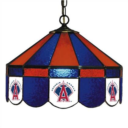 "Imperial International 18-30 MLB Themed 16"" Stained Glass Lamp With Seven Logos"
