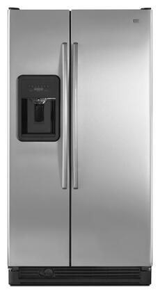 "Maytag MSD2573VES Freestanding 25.2 cu. ft. 10 cu. ft. No 35.5"" Side by Side Refrigerator 