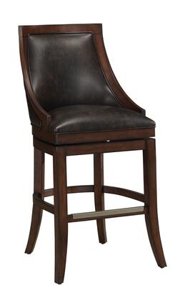 American Heritage 11113XX Galileo Series Stool with Navajo Finished Wooden Frame and Bonded Leather Upholstery in Coco