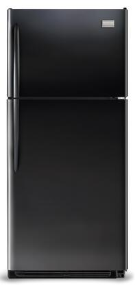 Frigidaire FGHT1834KB Gallery Series Freestanding Top Freezer Refrigerator with 18.28 cu. ft. Total Capacity 3 Glass Shelves 4.07 cu. ft. Freezer Capacity