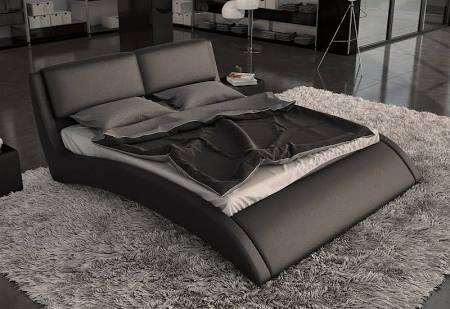 VIG Furniture VGINVOLO Modrest Volo - Modern Eco-Leather Bed with Curves