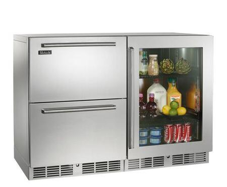 Perlick HP48RRS53R Signature Series Counter Depth Side by Side Refrigerator with 12.0 cu. ft. Capacity