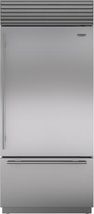 """Sub-Zero BI-36U/S/TH-XX 36"""" Energy Star Built-In Bottom Freezer Refrigerator with 21.7 cu. ft. Total Capacity, Automatic Ice Maker, Air Purification System, and Water Filtration System, in"""