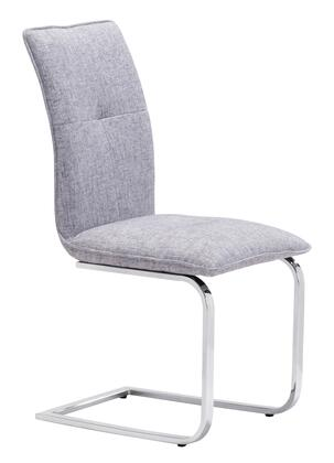 Zuo 100123 Anjou Series Modern Fabric Metal Frame Dining Room Chair
