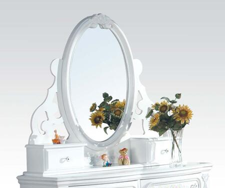 Acme Furniture 01664 Floral Series Oval Portrait Dresser Mirror