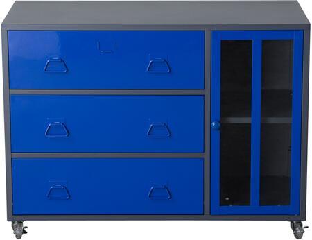 Diamond Sofa FD06BU Nova Qwik Series Freestanding Metal 3 Drawers Cabinet