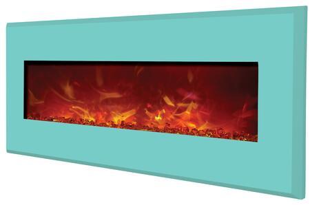 Amantii WMBI586421COASTALBLUE Wall Mountable Electric Fireplace