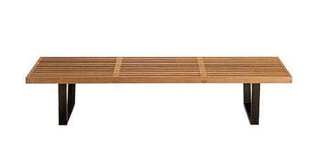 Fine Mod Imports FMI115272NATURAL Accent Armless Metal Bench