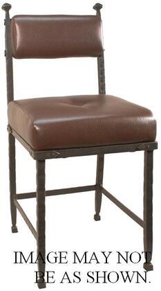 Stone County Ironworks 940-819-FAB Forest Hill Side Chair With Fabric Seat