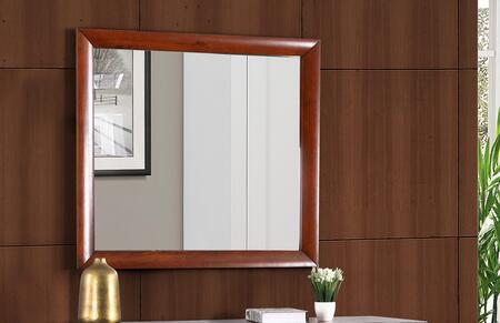 "Glory Furniture 39"" x 35"" Mirror with Rectangular Shape and Wood Veneer Construction in"