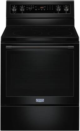 """Maytag MER8800F 30"""" Freestanding Electric Range with 6.4 cu. ft. Capacity, True Convection, 5 Elements, AquaLift Self Clean, and Storage Drawer"""