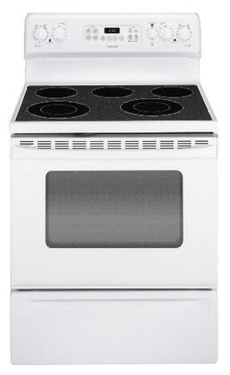 Hotpoint RB792DRWW  Electric Freestanding Range with Smoothtop Cooktop, 4.5 cu. ft. Primary Oven Capacity, Storage in White