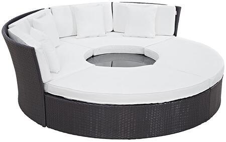 """Modway EEI2171EXPWHISET 86.5"""" Water Resistant Outdoor Bed"""