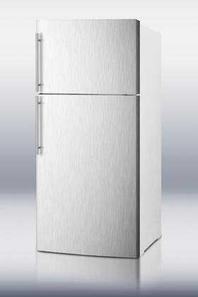 Summit FF1620WSSHVIM Freestanding Counter Depth Top Freezer Refrigerator with 15.8 cu. ft. Total Capacity 2 Glass Shelves