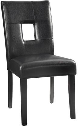 "Coaster Newbridge 24"" Dining Side Chairs with Plush Seating, Keyhole Design Back, Tapered Legs and Leatherette Upholstery in"