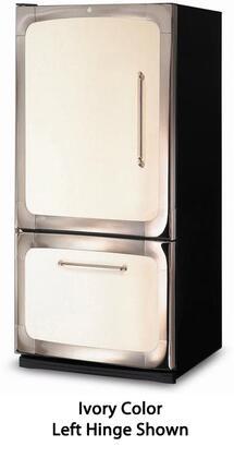 """Heartland 301500LBLK 30""""  Bottom Freezer Refrigerator with 18.5 cu.ft. Total Capacity 5.6 cu.ft. Freezer Capacity Glass Shelves"""