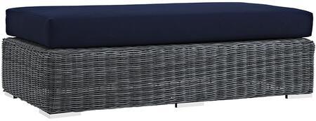 Modway EEI1877GRYNAV Modern Rectangular Shape Patio Ottoman