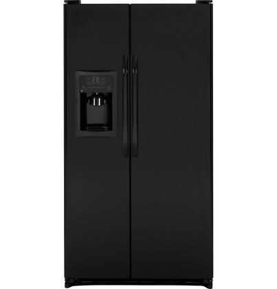 GE GSH25JGDBB  Side by Side Refrigerator with 25.252 cu. ft. Capacity in Black