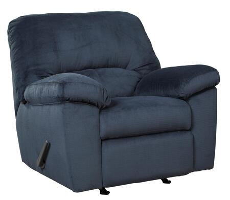 """Signature Design by Ashley Dailey 9540X25 41"""" Fabric Rocker Recliner with Plush Padded Arms, Divided Back Design and Textured Upholstery in"""