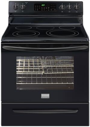 """Frigidaire FGEF3034KB 30"""" Gallery Series Electric Freestanding Range with 5 Smoothtop Cooktop Storage 5.7 cu. ft. Primary Oven Capacity 