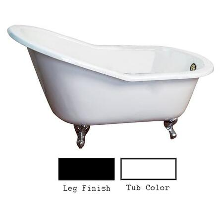 "Barclay CTSN67 67"" Icarus Cast Iron Slipper Tub with Overflow and No Holes in"