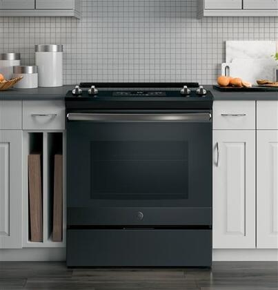 Ge Js645 30 Quot Slide In Electric Range With 4 Elements 5 3