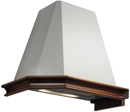 "Futuro Futuro WLxPORTLAND 36"" Portland Series Range Hood with 800 CFM, 3-Speed Slider Controls, Dishwasher-safe Filters, in White"