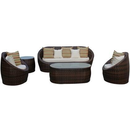 Modway EEI724SET Modern Rectangular Shape Patio Sets