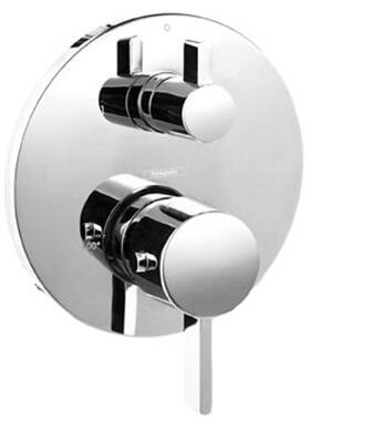 Hansgrohe 4230 Double Handle Thermostatic Valve Trim with Volume Control and Metal Lever Handles: