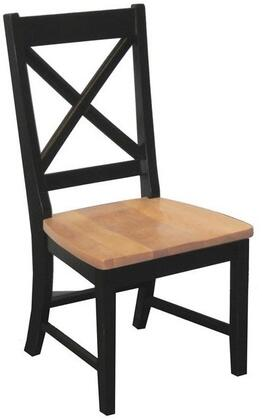 """Intercon Furniture Hillside Village HV-CH-725W-B 39"""" Dining Room X-Back Side Chair with Alder, Turned Legs, 1.25"""" Knotty Alder Chair Seats in"""