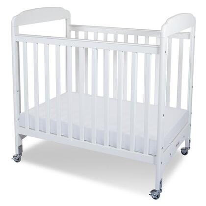 "Foundations Serenity Collection 1732XXX Compact Fixed-Side Clearview Crib with 3"" Antimicrobial Mattress"