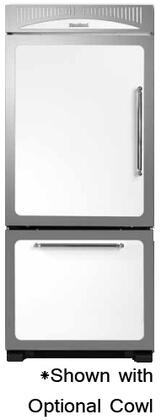 """Heartland 311500LWHT 36"""" Classic Series Counter Depth Bottom Freezer Refrigerator with 20 cu. ft. Capacity in White"""