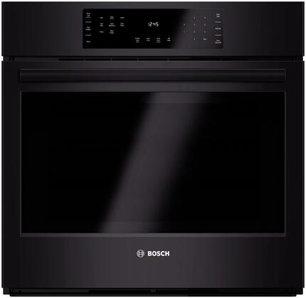 "Bosch 800 Series HBL84 30"" Electric Single Wall Oven with 4.6 cu. ft. Capacity, EcoClean 2-Hour Self-Clean Cycle, Genuine European Convection, Meat Probe and Extra Large Door Window in"