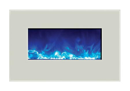 Amantii WMBI344423WHTGLS WMBI Series Wall Mountable Electric Fireplace