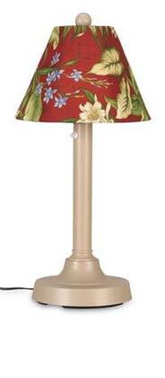 Patio Living Concepts 0012 San Juan Table Lamp 30-inches Tall with 14-inch Dia Antique Linen Shade,