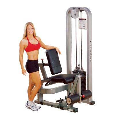 Body Solid SLE200G ProClub Leg Extension Machine with Steel Mainframe and Tear-Resistant DuraFirm Padding