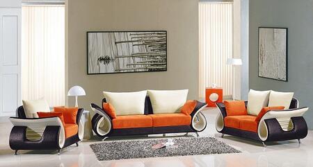 VIG Furniture VGEV2256 Modern Fabric Living Room Set