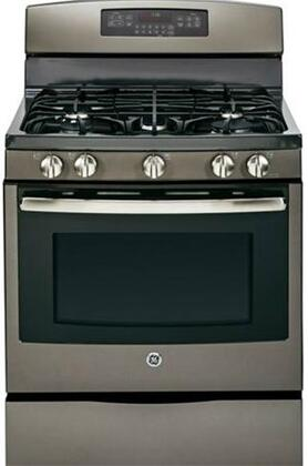 "GE JGB750EEFES 30"" Gas Freestanding Range with Sealed Burner Cooktop, 5.6 cu. ft. Primary Oven Capacity, Storage in Slate"