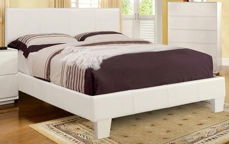 Furniture of America CM7008WHQBED Winn Park Series  Queen Size Platform Bed