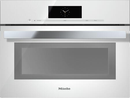 """Miele DGC68001x 24"""" Combi-Steam Oven with M Touch Control, 1.7 cu. ft. Capacity, Non-plumbed Connection, MultiSteam Technology, True European Convection, and Wired Roast Probe, in"""