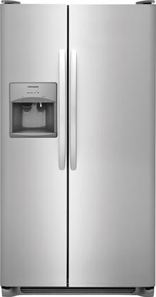 "Frigidaire FFSS2315Tx 33"" Freestanding Side-by-Side Refrigerator with 22.1 cu. ft. Capacity, PureSource 3 Ice & Water Filtration, Ready-Select  LCD Controls, Store-More  Gallon Door Bins, and 2 Refrigerator Glass Shelves, in"