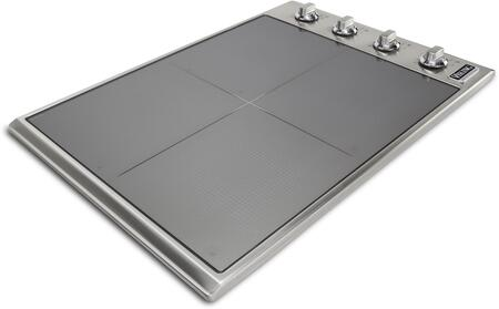 Viking VICU53BST Professional 5 Series Built-In Induction Cooktop with MangeQuick Induction Elements, Simmer Setting, Child Lock, Hot Surface Indicator, and Cermica Surface, in Stainless Steel