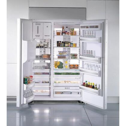 thermador 48 refrigerator. samsung true front both doors opened thermador 48 refrigerator a