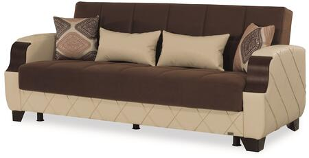 """Casamode Molina Collection MOLINA SOFABED 79"""" Sofa Bed with Under Seat Storage, Tufted Detailing and"""