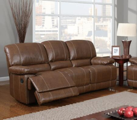 Global Furniture USA U9963RodeoBrownS  Reclining Bonded Leather Sofa