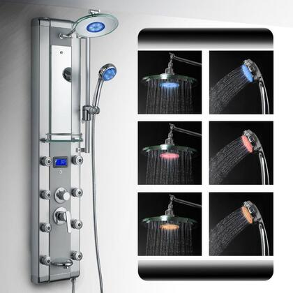 Picture of AK-5333D 51 Aluminum Shower Panel Tower LED Rainfall