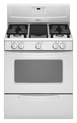 """Whirlpool WFG231LVQ 30"""" Gas Freestanding Range with Sealed Burner Cooktop, 4.4 cu. ft. Primary Oven Capacity, Broiler in White"""